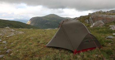 Wild camp on way to Sgurr Choinnich, Sgurr a Chaorachain and Maoile Lunndaidh