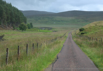 Road bike route past the Farr wind farm from Inverness